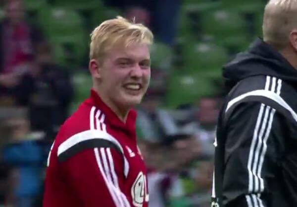 Julian Brandt nach dem Sieg gegen Bremen (Screenshot)