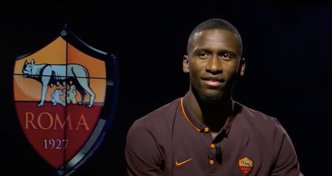 Antonio Rüdiger 2015 beim ersten Interview als Römer. (Screenshot:YouTube/AS Rom)