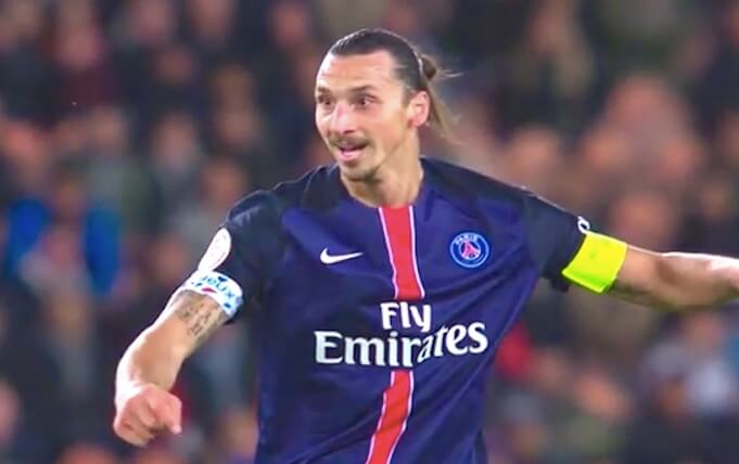 Zlatan Ibrahimovic als Kapitän für Ex-Verein Paris Saint-Germain 2016. (Screenshot:YouTube/FEEL MY STYLE)