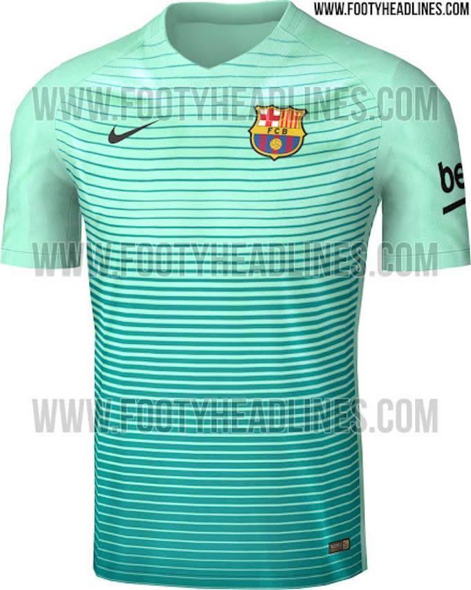 Das neue dritte Trikot des FC Barcelona. (Quelle: www.footyheadlines.com)