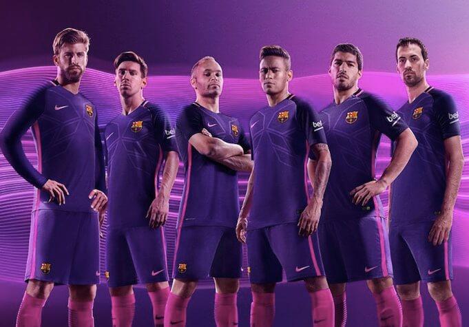 Auswärtstrikot des FC Barcelona der Saison 2016/2017. (Quelle:Twitter/FC Barcelona)