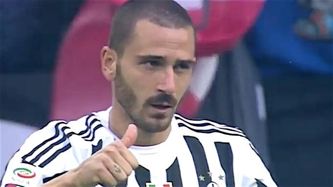 Bonucci im Trikot von Juventus Turin. Screenshot:YouTube/GAEBBA)
