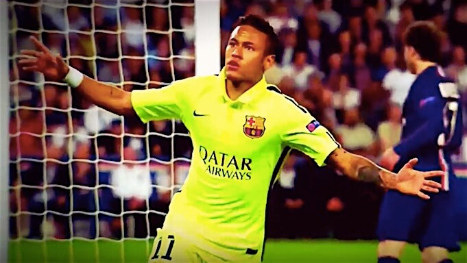 Neymar im Trikot vom FC Barcelona 2015. (Screenshot:YouTube/Teo CRI)