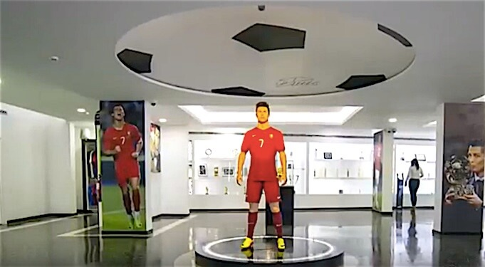 Das Cristiano Ronaldo Museum in Funchal. (Screenshot:YouTube/FOX Soccer)