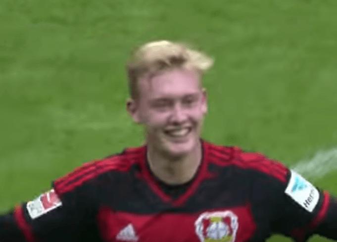 Julian Brandt im Trikot von Bayer 04 Leverkusen: (Screenshot: Youtube/BUNDESLIGA bei BILD)