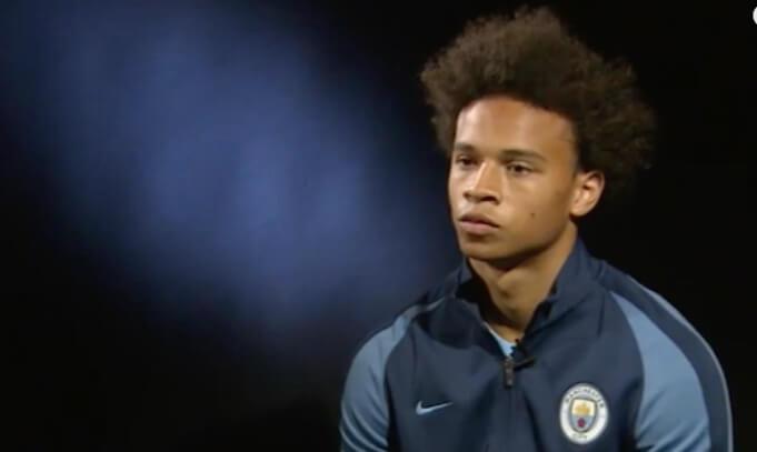 Leroy Sane bei seinem ersten Interview für Manchester City. (Screenshot:YouTube/Man City)